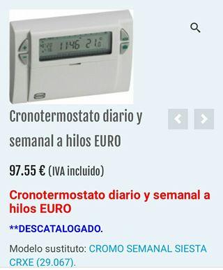 Cronotermostato diario y semanal a hilos EURO