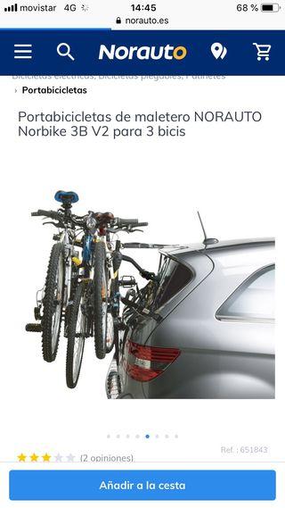 Portabicis portón NUEVO para 3 bicis