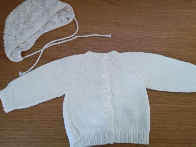 Suéter y capota bebé recién nacido unisex