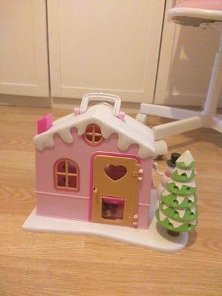 casa nieve barriguitas más dos muñecas