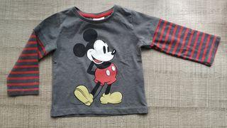 Camiseta de manga larga de Mickey mouse T:9-12