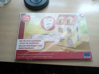 casa de muñecas de cartón para pintar