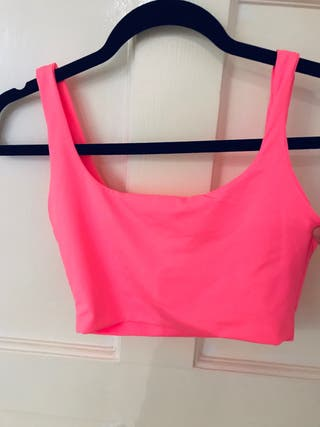 Neon Pink Cropped Top