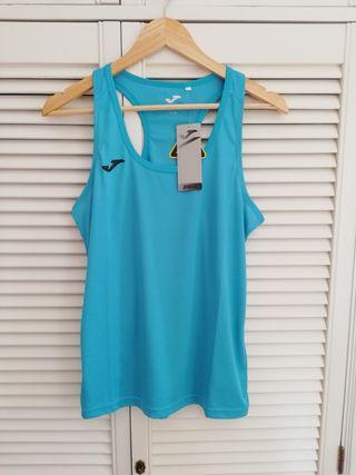 Camiseta fitness mujer Joma con etiquetas