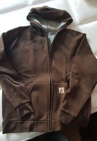 Chaqueta Carhatt marrón con capucha