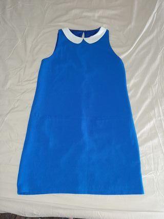 vestido azul electrico estilo años 60