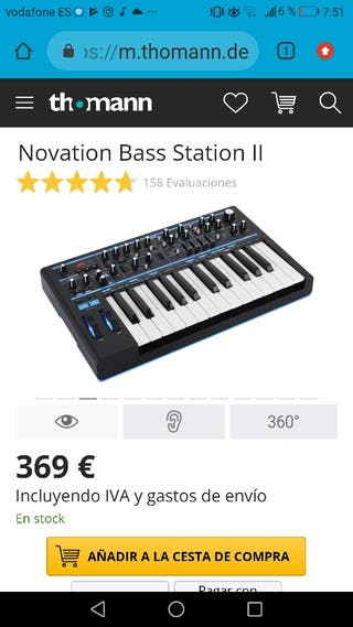 Sintetizador - Novation Bass Station ||