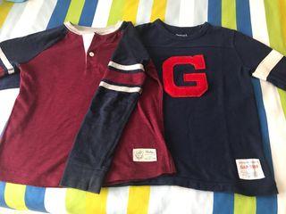 Lote 2 camisetas GAP