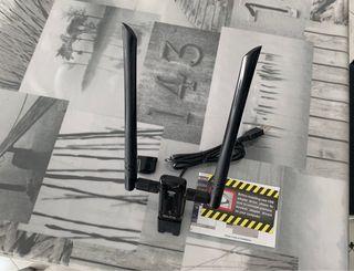 Adaptador de red Wi-Fi vía USB Alfa AWU036AC