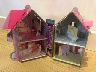 Casita de cartón para muñecas