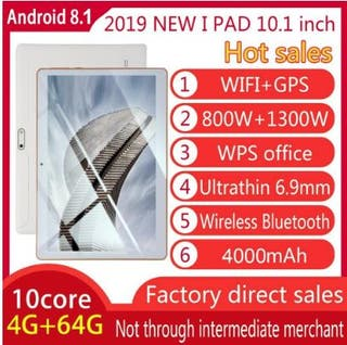 Tablet 10,1 para Android 8,1 Tablet PC 4GB + 64GB