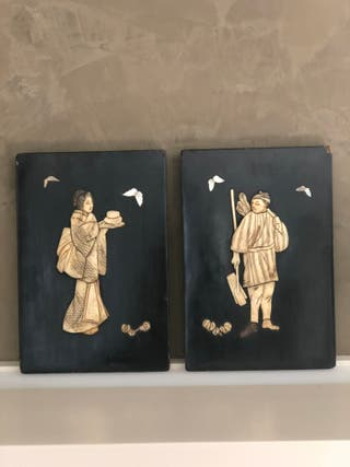 Tablas cuadro relieve oriental antiguo