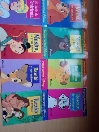 Lote ocho mini cuentos Disney