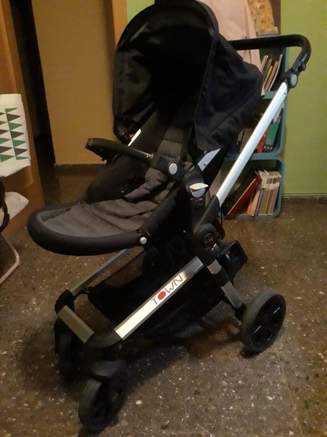 Carrito de bebé Nurse Town de 3 piezas color negro