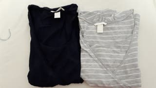 2 camisetas embarazo/lactancia