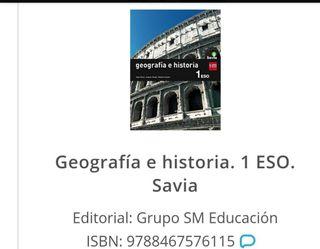 libro de Geografía e historia 1º de la ESO
