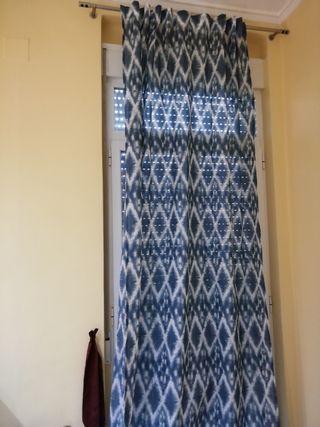 Dos cortinas Ikea