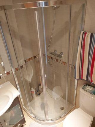 Mampara de ducha curva 80x80