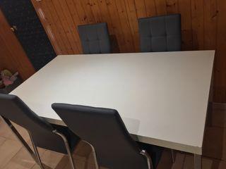 Mesa madera blanca comedor