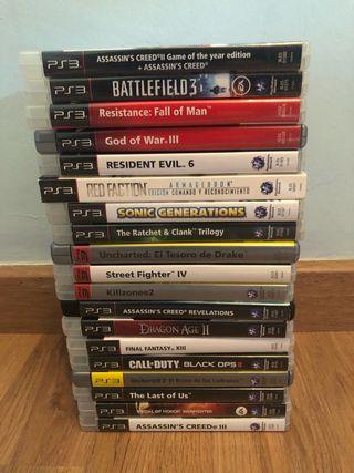 Lote de juegos de PS3