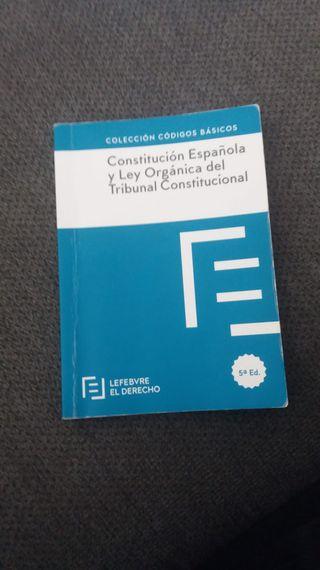 Constitución Española y Ley Orgánica del Tribunal