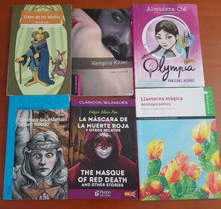 Libros de lectura de 2°y 3° de la ESO.