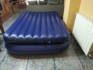 Vendo colchón hinchable con bomba de aire eléctric