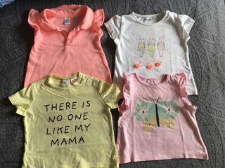 Pack de 4 camisetas niña 6 meses