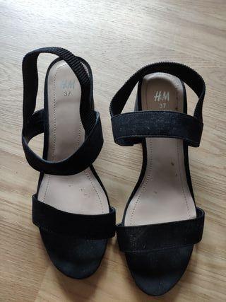 Sandalias negras 37