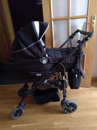 Cuco, maxicosi y silla de paseo Chicco Black Label
