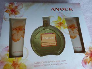 Estuche Anouk con perfume, crema y gel