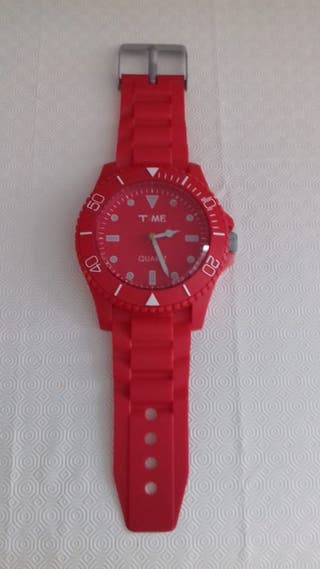 reloj pared rojo quartz