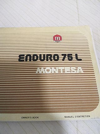 Manual de instrucciones de montesa enduro 75 L
