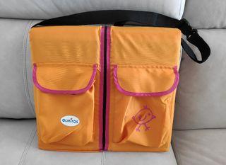 bolso cuna y cambiador de pañales de viaje