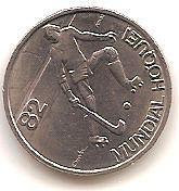 PORTUGAL,2,50 ESCUDOS 1982,MUNDIA DE HOCKEY.