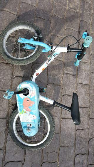 Bicicleta Decathlon con rodines extraibles
