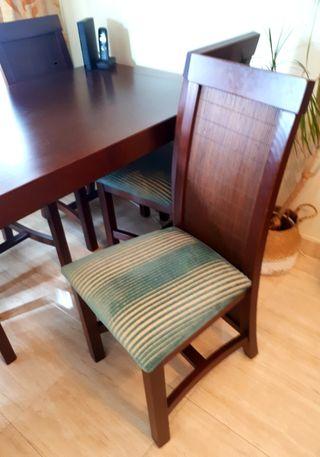 Mesa comedor extensible +6 sillas