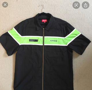Supreme zip up worker shirt