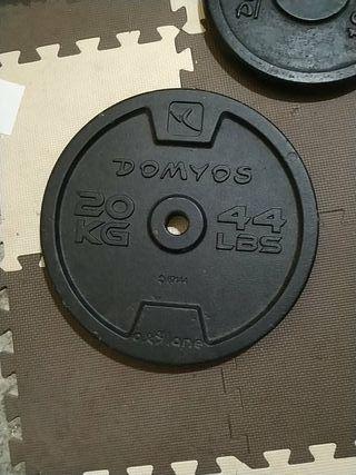 Discos,barras y cierres para pesas y musculacion