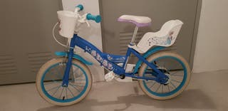 """Bicicleta niña de Frozen de 16"""""""