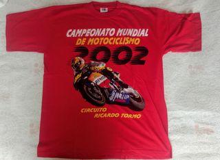 Camiseta del Campeonato de motos 2002. Nueva.
