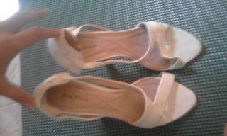 Zapatos blancos talla 38 diseño
