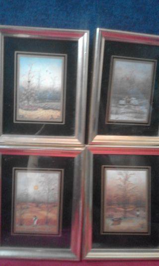4 cuadros Las 4 estaciones