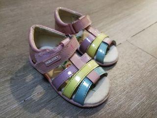 sandalias para niña talla 19 marca pablosky
