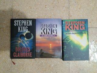 Lote de tres novelas de Stephen King