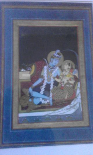 Lámina Shiva y Pavarti