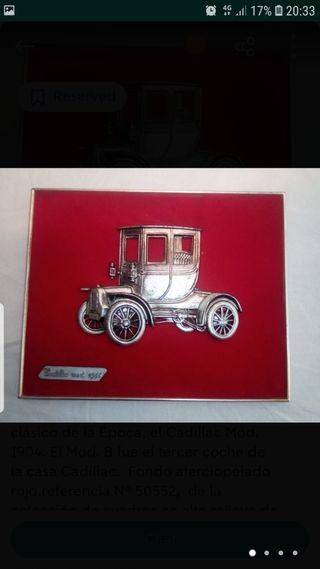 Cuadros antiguos peugeot 1895 y Cadillac.