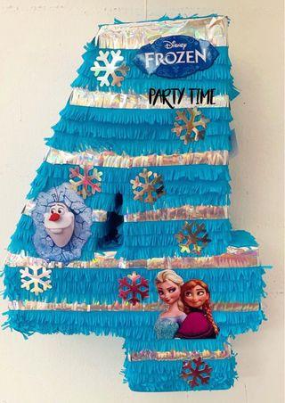 piñata número frozen