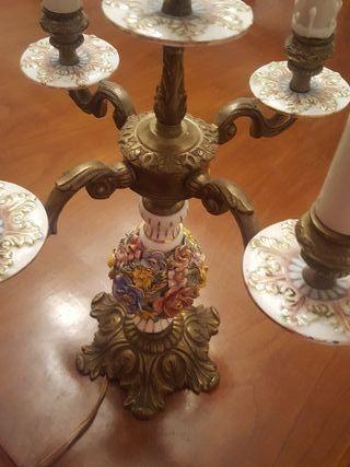2 candelabros bronce antiguos
