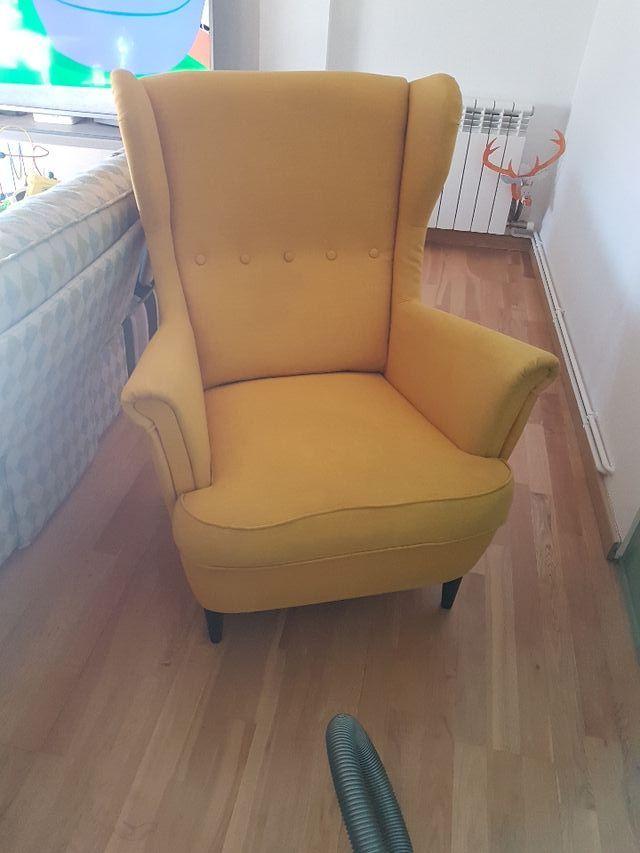 sillón orejero lactancia